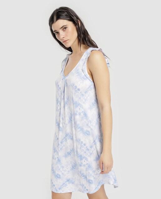 9cf9f6108 Camisón corto Ellen Tracy tie dye en azul
