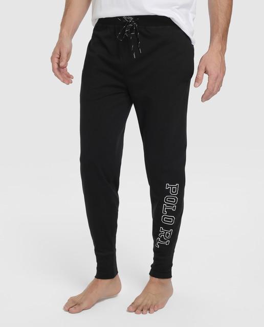 · Maille En Homme De Ralph Pyjama Polo Pantalon Noir Lauren vn08myNOw