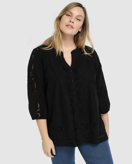 93619604756b Camisas, Blusas y Tops Couchel Mujer Tallas Grandes · Moda · El ...