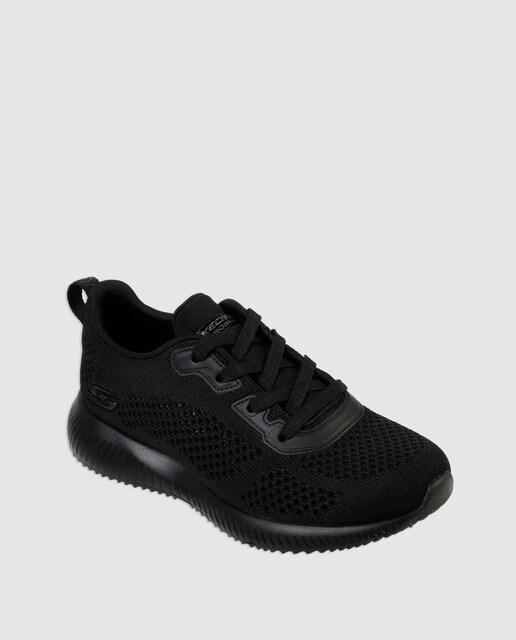 outlet store f8cfe 1c9b0 Zapatillas deportivas de mujer Skechers de color negro con plantilla memory  Foam