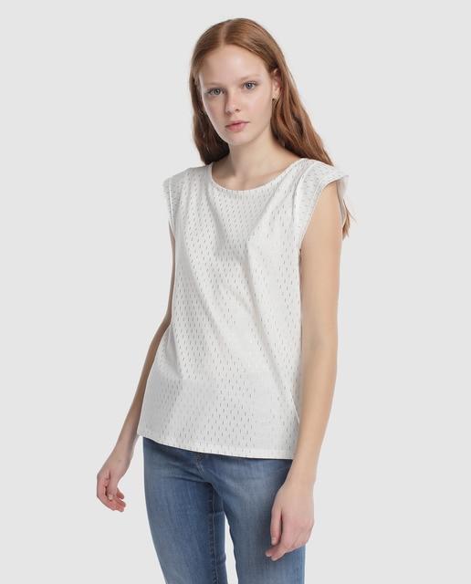 fb088c7cb70 Camiseta de mujer Tintoretto sin manga foil all over