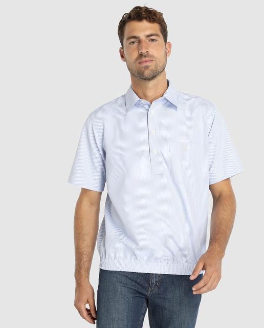 3060a731e Camisa polera de hombre Emidio Tucci slim de rayas azu.