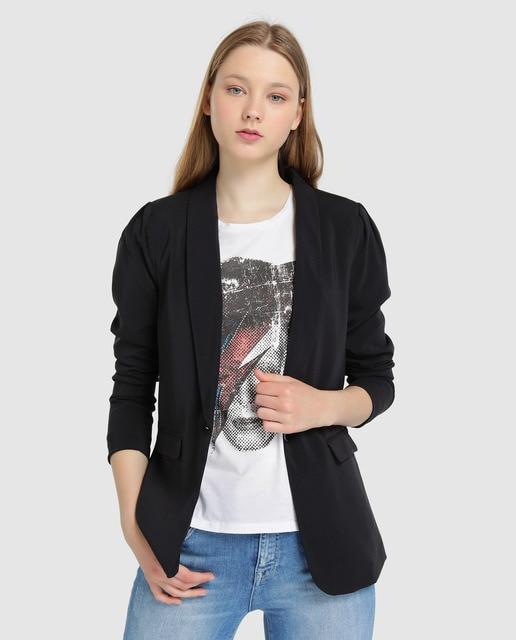 d2e15478f Blazer de mujer Only en color negro con detalle en los hombros
