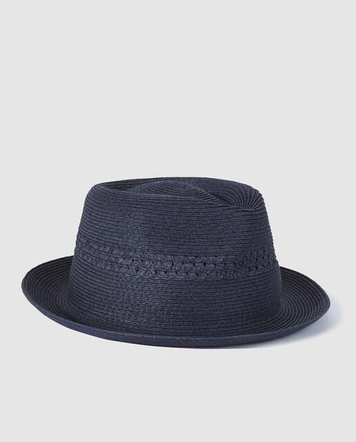 5ae47085 Dustin men's navy blue paper trilby hat · Dustin · Fashion · El Corte Inglés