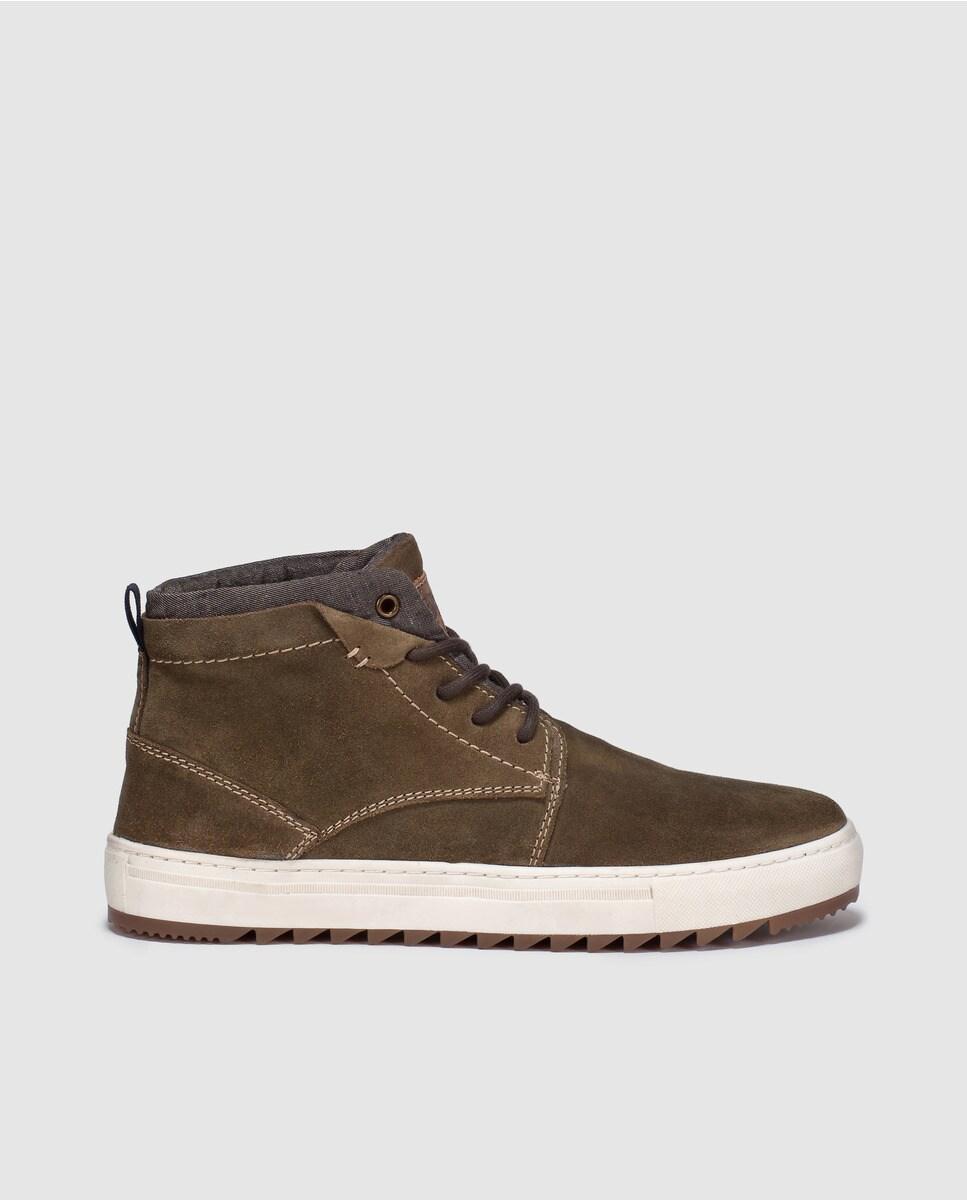 Boots   en croûte de cuir